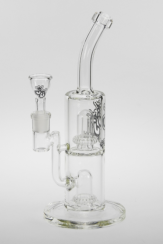 Doppelkammer-Bong 1218-clear – 5mm –