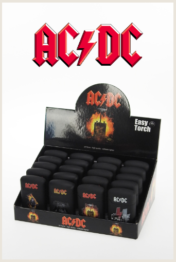 20 AC/DC Jetflame lighter in display - Just 1 Euro per piece !!!