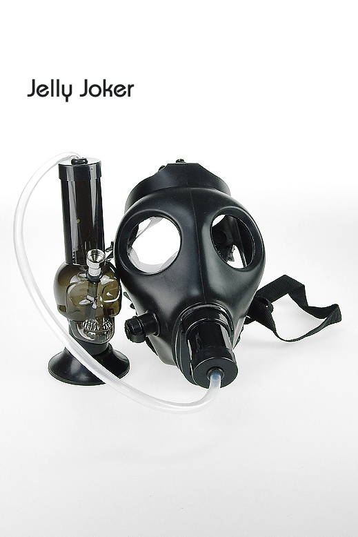 Gas mask with acrylic bong