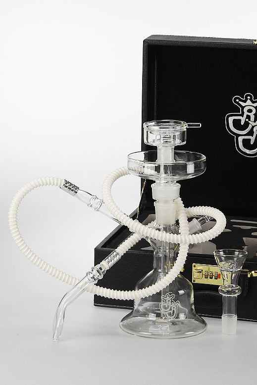 Shisha from glass - clear - in a case
