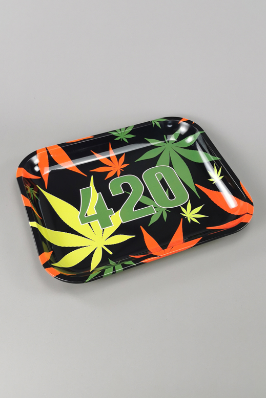 Rolling tray big from metal  34cm x 27,5cm (STR19719-B)