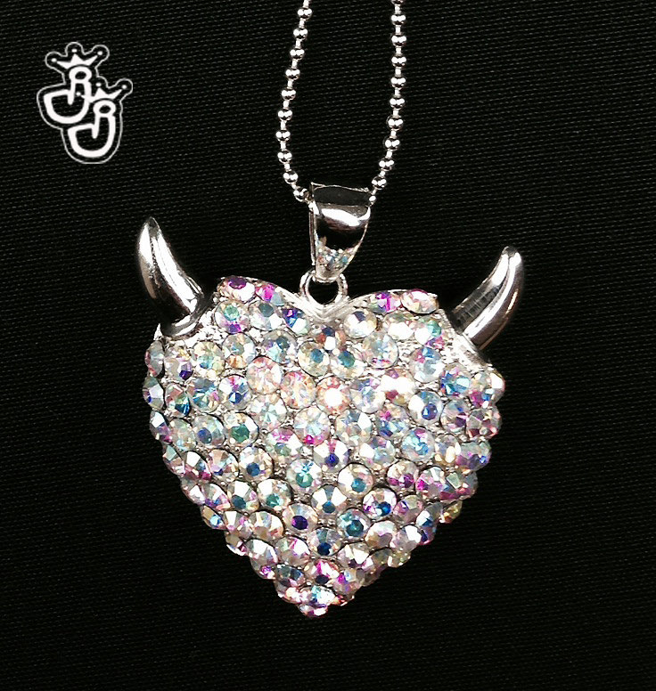 Sterling Silver devil heart for opening